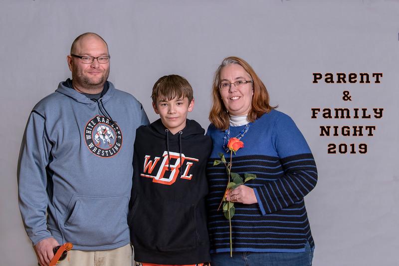 WBL Wrestling Parent Family Night 2019
