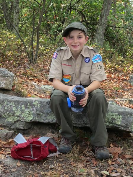 Troll Patrol member at the summit of Signal Knob.