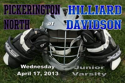2013 Pickerington North at Hilliard Davidson Girl's Lacrosse (04-17-13) JUNIOR VARSITY