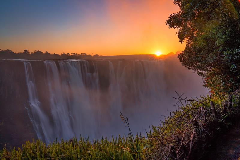 Sunriuse Over Victoria Falls