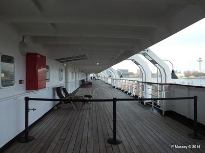 ss ROTTERDAM Boat Deck & Sun Deck Jan 2014