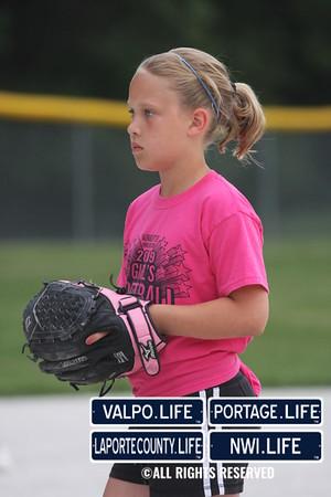Girls'' Softball (Davidson/ Dark Pink)