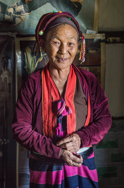 Lady of the Palaung people, Pankam Village in the Shan Hills of Myanmar.