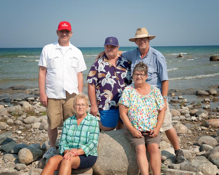046 Michigan August 2013 - Grand Traverse Lighthouse Shore (Dan,Ilene,Mike,Dave,Pam).jpg