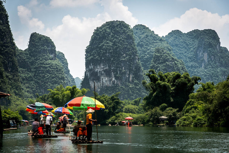 Yangshuo - Bamboo rafting along Yulong River-4787.jpg