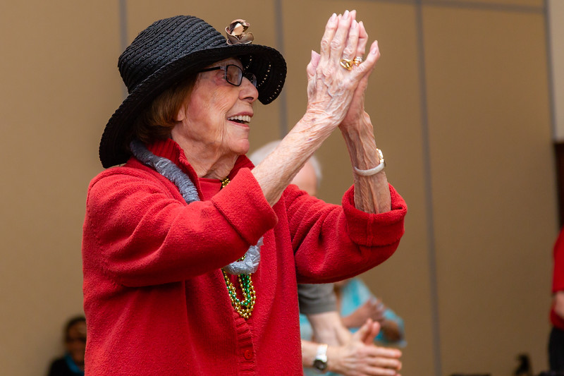 Elaine Perlman, 95, participates in a Zuma exercise class at Tradition of MorseLife in West Palm Beach on Wednesday, October 31, 2018. Perlman has lived at Tradition for two and a half years. [JOSEPH FORZANO/palmbeachpost.com]