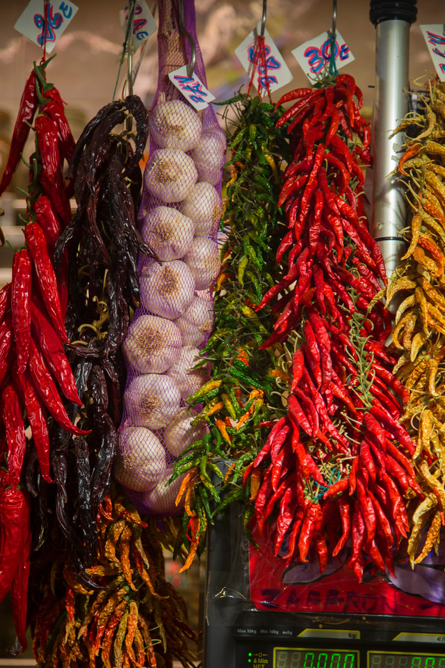 La Boqueria Market  dried peppers
