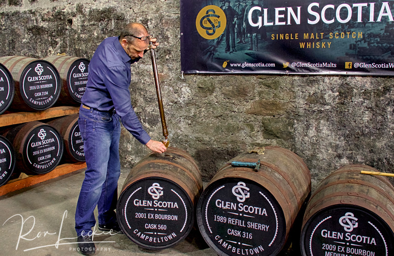 Glen Scotia: A rare treat - barrel tasting with distillery manager, Iain McAlister.