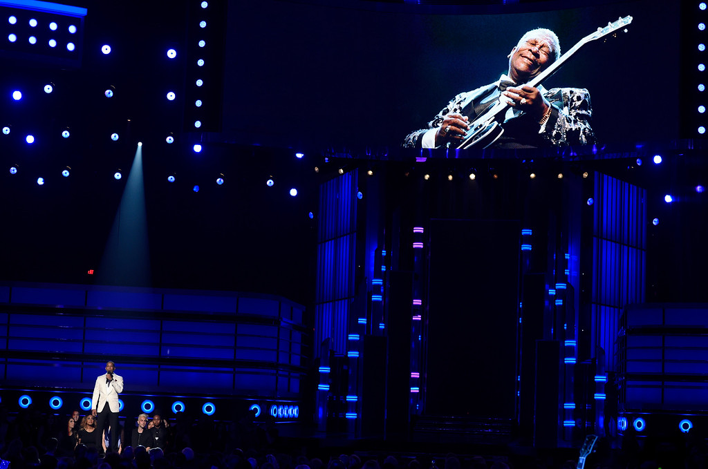 . Ludacris presents a tribute to B.B. King at the Billboard Music Awards at the MGM Grand Garden Arena on Sunday, May 17, 2015, in Las Vegas. (Photo by Chris Pizzello/Invision/AP)