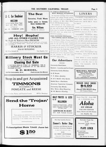The Southern California Trojan, Vol. 8, No. 64, February 08, 1917