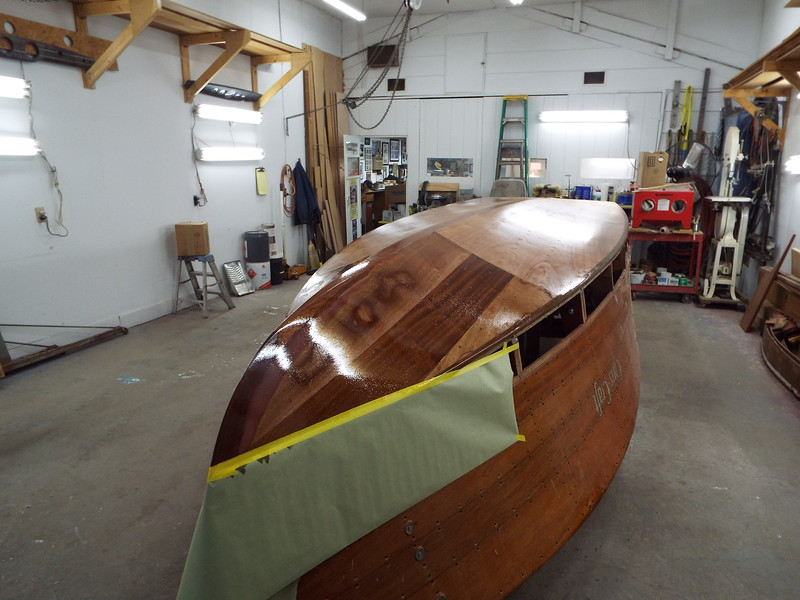Starboard view of the second coat applied.