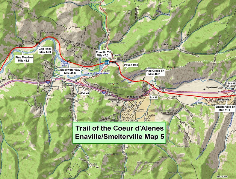 Trail of the Coeur d'Alene's State Park (Section #5)