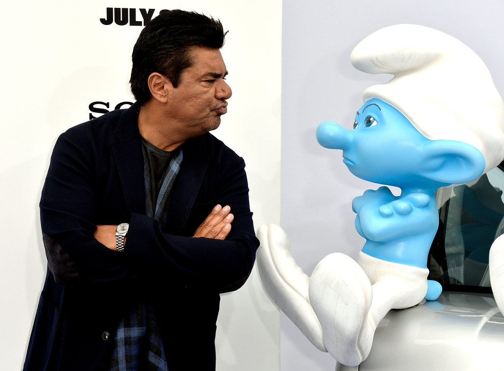 . Actor George Lopez attends the premiere of Columbia Pictures\' \'Smurfs 2\' at Regency Village Theatre on July 28, 2013 in Westwood, California.  (Photo by Frazer Harrison/Getty Images)