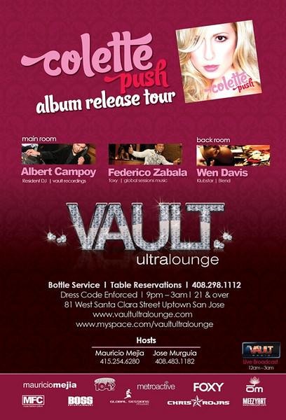 Colette Push Album Release Tour @ Vault Ultra Lounge 11.21.07