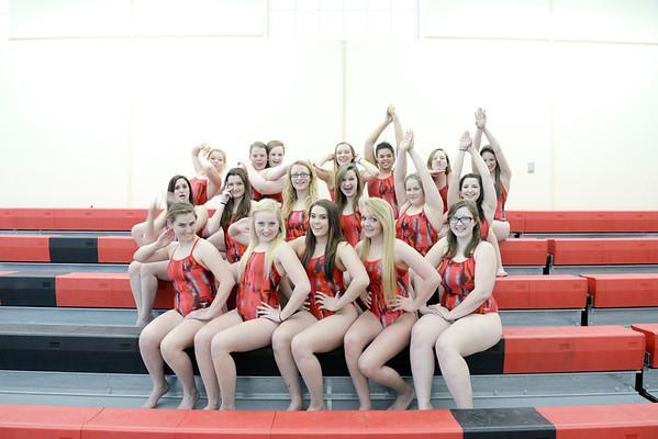 2014.04.23 Girls Swim Team Photo