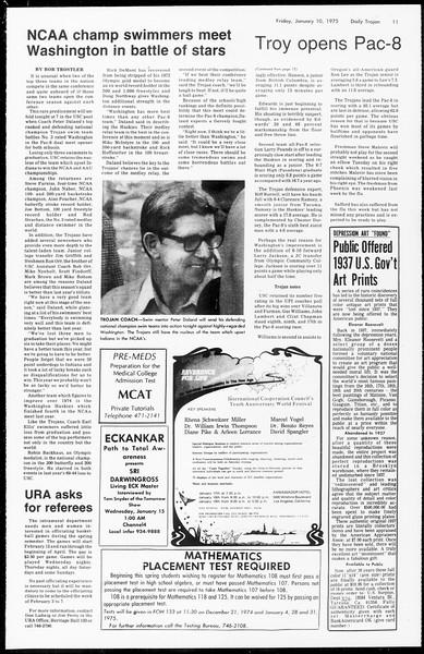 Daily Trojan, Vol. 67, No. 65, January 10, 1975