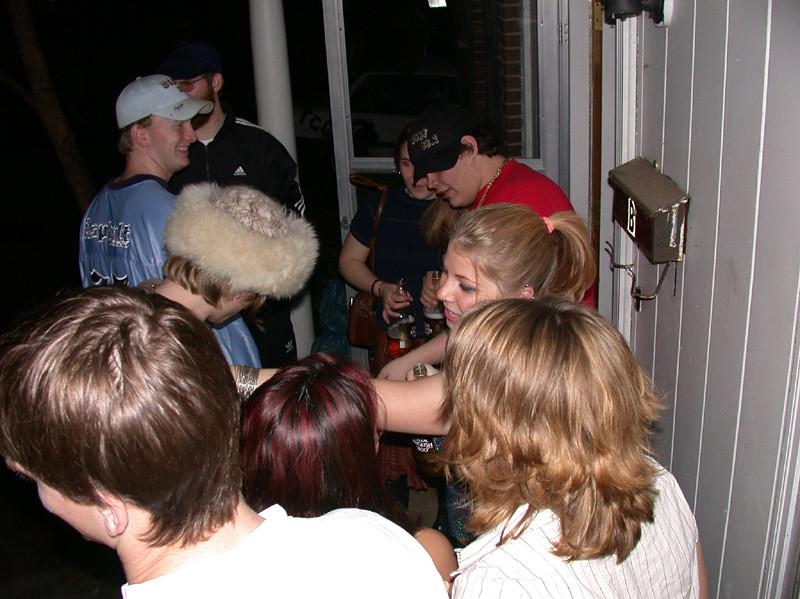 Buncha people on my porch