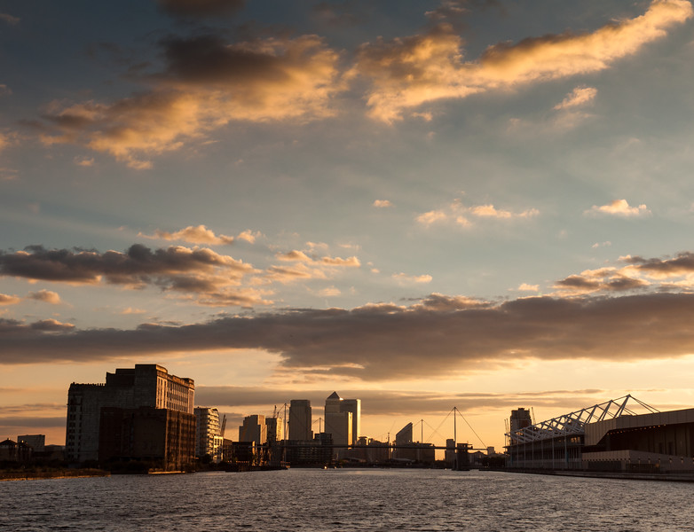 Royal Docks sunset