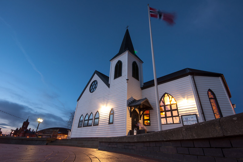 Norwegian Church at night