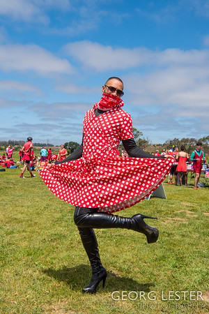 AIDS/Lifecycle 2019 - Day 5 - Red Dress Day