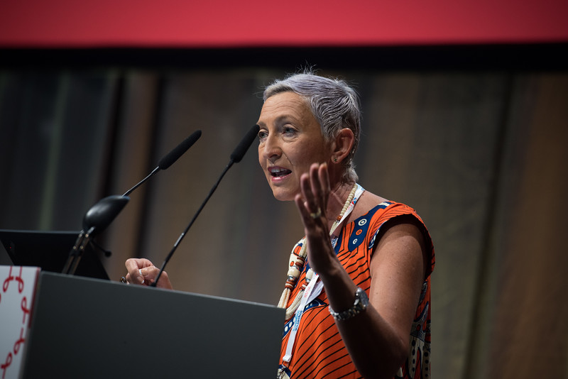 22nd International AIDS Conference (AIDS 2018) Amsterdam, Netherlands   Copyright: Marcus Rose/IAS  Photo shows: STI 2018. Speaker: Linda-Gail Bekker (President IAS).