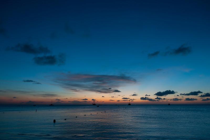 Sunset on the beach - Aruba