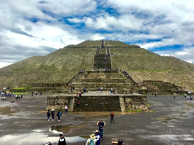 Tlatelolco, Guadalupe Shrine, Teotihuacan, and driving photos 26July2019