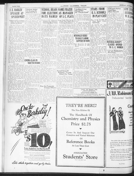 Daily Trojan, Vol. 23, No. 17, October 05, 1931