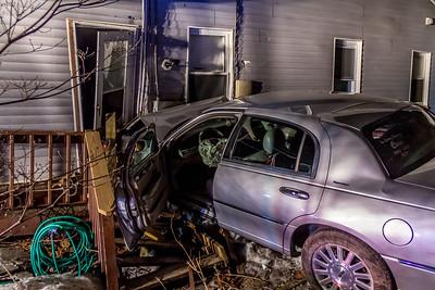 3-2-2021 MVA Car Into A House,  Albany Post Road