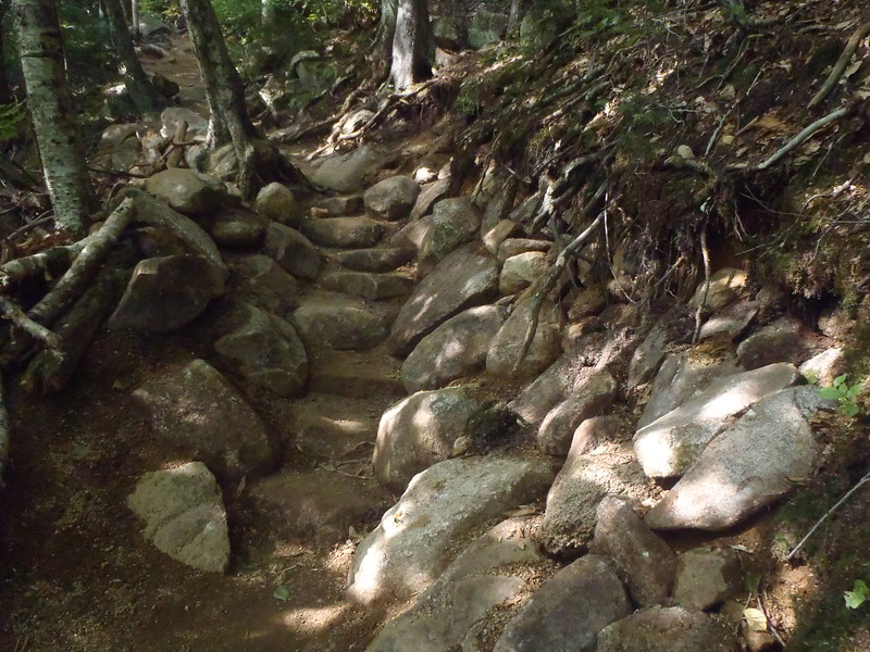 New Hampshire: Rock Stairs on Appalachian Trail
