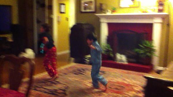 Boys Dancing to Funk Music