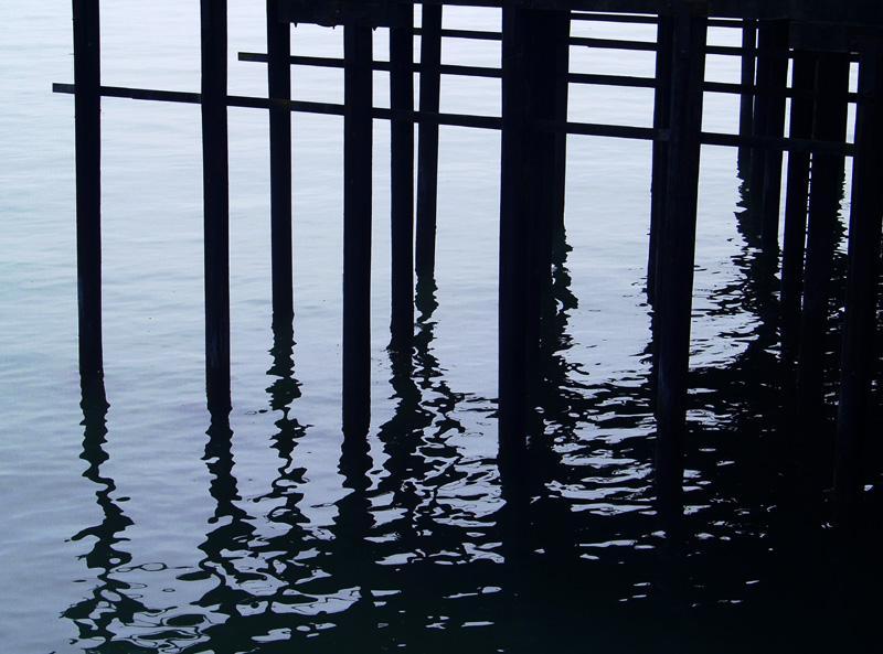 Under the Boardwalk, Santa Cruz, CA. by Ama