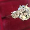 Old European Cut Diamond 3-Stone Trellis Setting, by Steven Kirsch 1