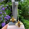 Vintage Bee Conversion Earrings 11