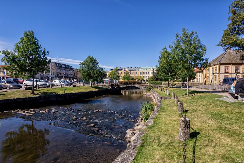 The Åmålsån River Flowing Through Åmål
