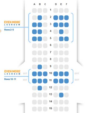 Airline Seating Map