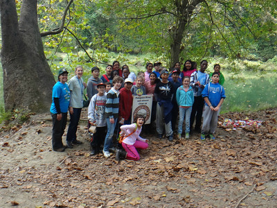 9.27.13 Cleanup of Invasives & Watershed Scavenger Hunt at Patapsco State Park with Hollifield Station Elementary
