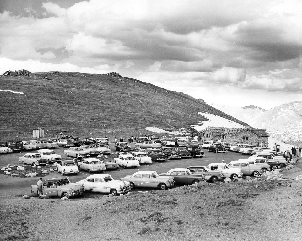 . Summit House Trail Ridge Road in Rocky Mountain National Park, Colorado, 1956. (Denver Post Library photo archive)