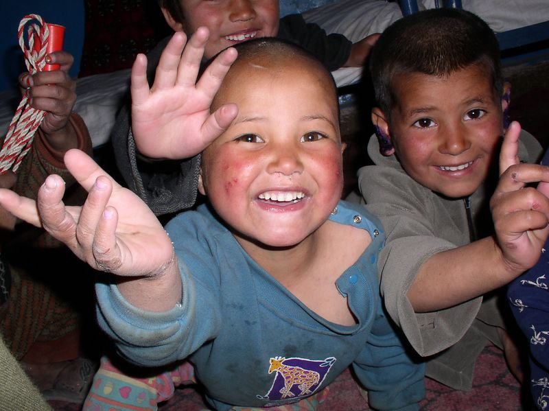 Happy kids at the orphanage.