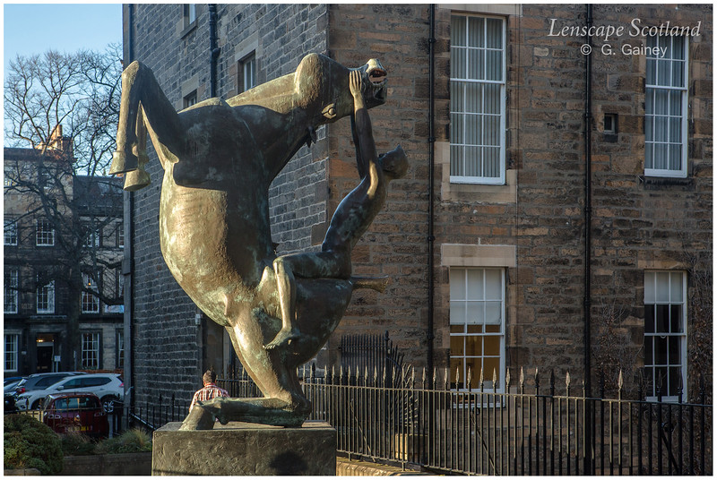 Horse and Rider sculpture, Rutland Square (1)
