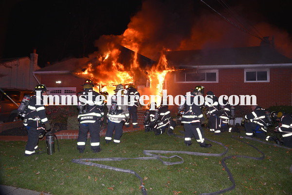 BETHPAGE FD HAMPSHIRE DR FARMINGDALE HOUSE FIRE 11-22-19