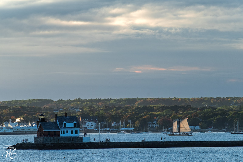 Rockland Harbor at Sundown
