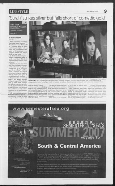 Daily Trojan, Vol. 160, No. 15, January 31, 2007