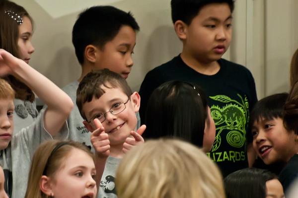 Jamie's second grade concert