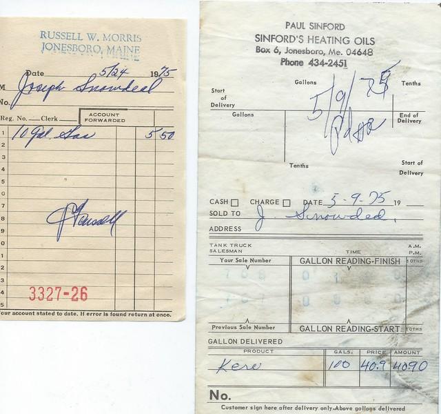 Gasoline and Kerosine slips from 1975