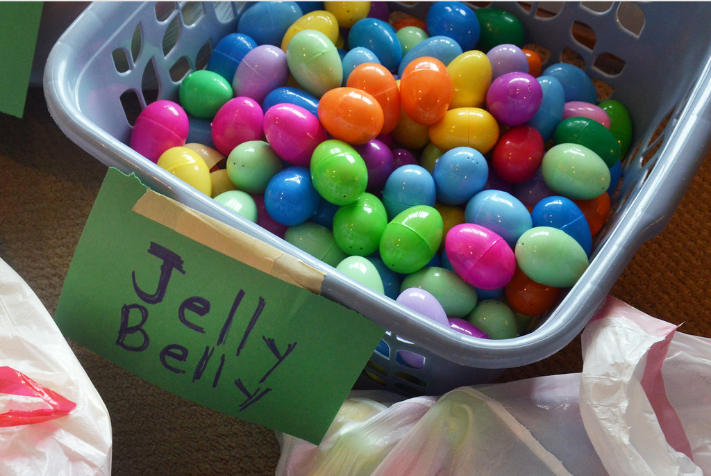 . Eggs prepared for Joni &  Friends Easter Egg Hunt.   Friday, April 4, 2014.   Photo by Geoff Patton