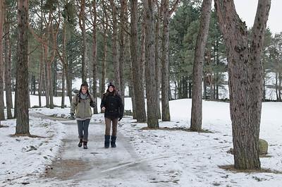 Januar 2010:  Besuch Antonia und Sandra