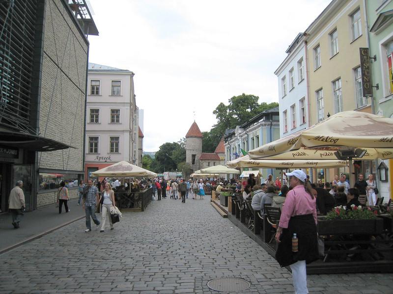 Sidewalk cafes in Tallinn