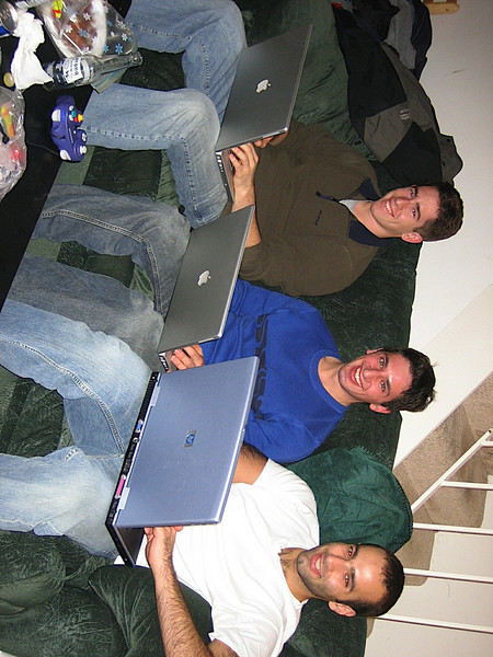 01 - Andrew, Aaron and Anthony being dorks at Clays.JPG