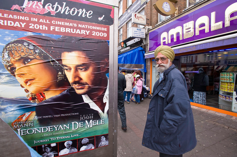 People shopping in Southall, London, United Kingdom